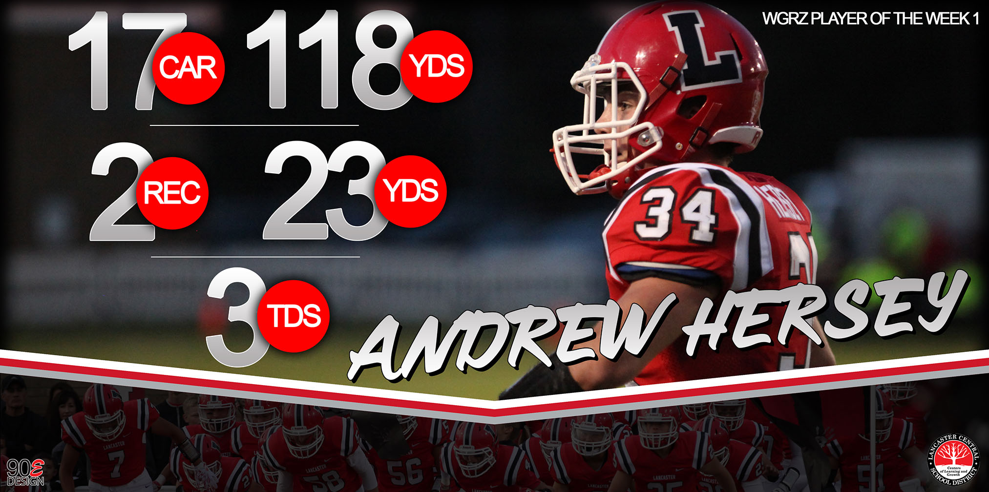 Andrew Hersey is the WGRZ Player of the Week for Week 1