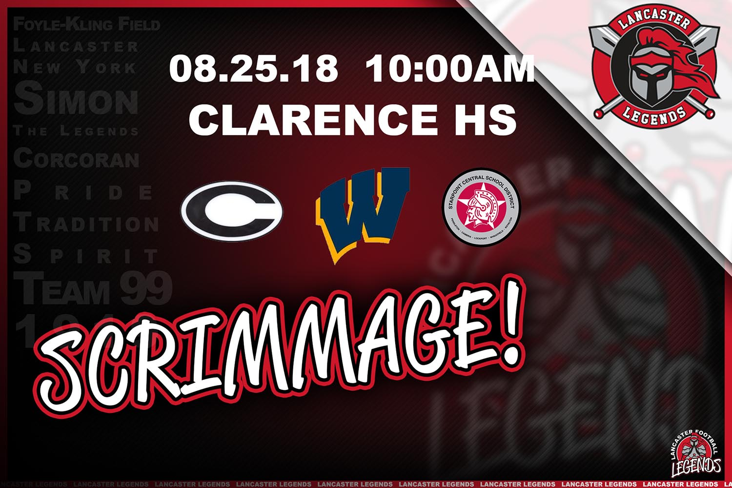 Scrimmage at Clarence HS
