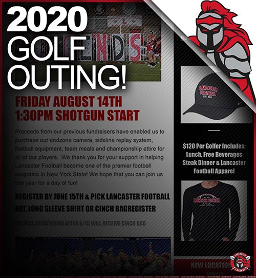 2020 Lancaster Football Golf Outing Information!