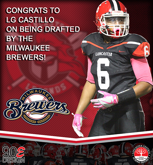LG Castillo got drafted by the Brewers!